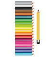 set colored pencils on white background vector image