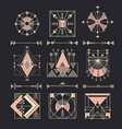 set of sacred geometry vector image vector image