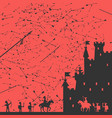 siege of the castle vector image vector image