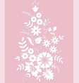 silhouette flowers ornament vector image