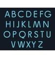 simple style neon lights alphabet night club vector image vector image