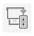 smart home icon vector image