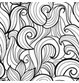 stylized waves seamless pattern vector image