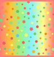 summer flower pattern seamless vector image
