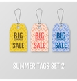 Summer tags set Sale sticker with special vector image vector image