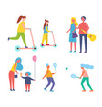 tennis game played by couple vector image vector image