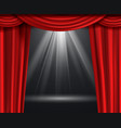 theater curtain luxury red curtains at black vector image vector image