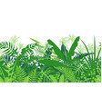 tropical plants green seamless pattern vector image vector image