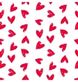 valentines pattern with hand painted hearts vector image vector image
