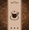 Vintage background for coffee menu coffee bean vector image vector image