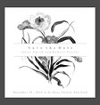 watercolor black and white floral wedding vector image vector image