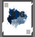 watercolor frame sale template banner vector image vector image