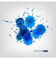 Watercolor Splashes Set isolated on white vector image vector image