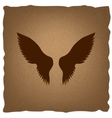 Wings sign Vintage effect vector image