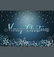 winter holiday background with snow and christmas vector image vector image