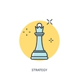 Flat chess lined figure Strategy concept vector image
