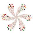 gambling twirl flower shape vector image