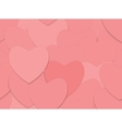 Seamless love background with red hearts vector image