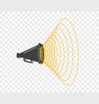 3d megaphone hailer talking loudly to turn vector image