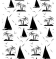 a seamless repeating pattern of palm trees and vector image vector image