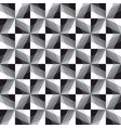 abstract seamless pattern of monochrome squares vector image vector image