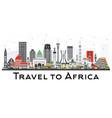 africa skyline with famous landmarks