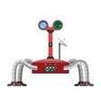 arachnid robot with radar and powerful satellite