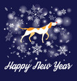 beautiful christmas card with dog vector image vector image