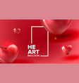 beautiful decoration for valentine day vector image