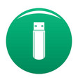 big flash drive icon green vector image vector image