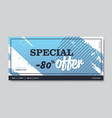 big sale banner special offer promo campaign vector image vector image