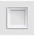 blank white picture frame square empty picture vector image vector image