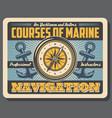 boatmasters school marine courses navigation vector image