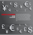 Business background with various money symbol vector image vector image