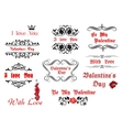 Calligraphic elements and scripts for Valentines vector image vector image