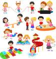cartoon children with different hobbies and sport vector image vector image