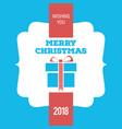 christmas greetings card with christmas gift box vector image vector image