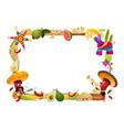 cinco de mayo frame mexican holiday border vector image vector image