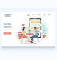 dating service website landing page design vector image vector image