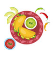 delicious mexican food cartoon vector image