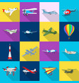 design of plane and transport icon vector image