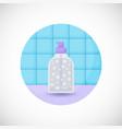 dispenser bottle flat icon vector image