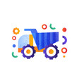 dump truck heavy industrial machinery vector image vector image