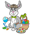 easter bunny artist vector image