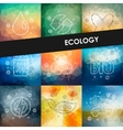 ecology timeline infographics with blurred vector image