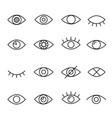 eye line icon vector image vector image