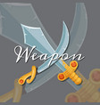 fantasy cartoon style game design medieval vector image