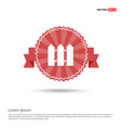 fence icon - red ribbon banner vector image