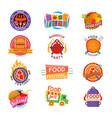 food festival logo festive street fastfood vector image