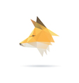 Fox head abstract isolated vector image vector image